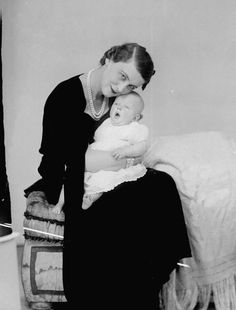Lovely Princess Marina Duchess of Kent and her first child Prince Edward of Kent, 17th February 1936.