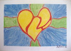 Heart on Fire 4x6 Art Print from Original by ChanelledCreations, $8.00