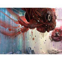 'Dirty Aquarium' - Bordalo II Aquarium, Instagram, Painting, Art, Goldfish Bowl, Art Background, Aquarium Fish Tank, Painting Art, Kunst