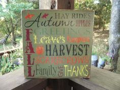 Fall Harvest Decorations | Fall Harvest Signs
