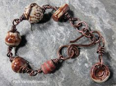 Stoneware and Copper Bracelet by PattiVanderbloemen on Etsy, $45.00