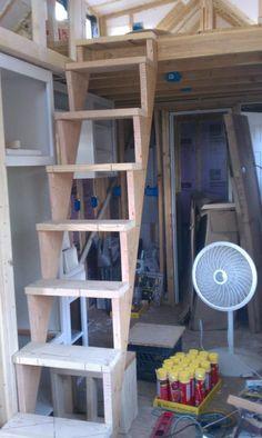 Diy Quot The Best Loft Ladder Type That I Ve Built Was Using
