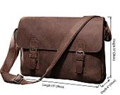 High quality Men's Business Genuine Leather Briefcase Laptop CrossBody Messenger Handbag Brwon #6002LR