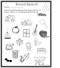 These Sound Search pages are great for your independent centers, morning work or small group instruction!