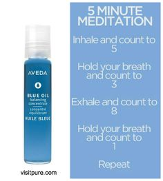 It'll be okay. Blue Oil is here for you.   #SmellsLikeAveda #Aveda #BlueOIl