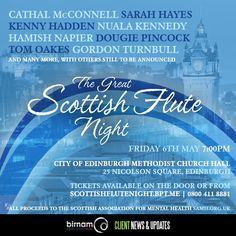 Get tickets here: http://scottishflutenight.bpt.me/  All proceeds to SAMH.