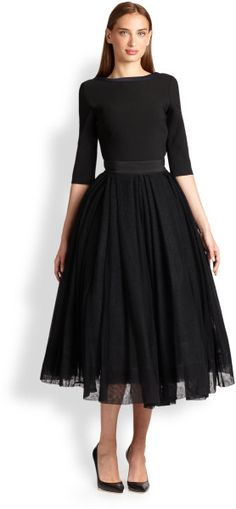 35b3b8210 How to wear the Grape García's black tulle skirt? Looking for ideas we have  found