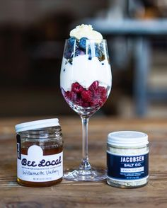 Celebrate the 4th of July with our Red, White & Blueberry Parfait! Layer raspberries, freshly whipped cream, blueberries, a top with more whip cream, drizzle of our honey, and finish with a sprinkle of @jacobsensaltco Lemon Zest Salt! #recipe #4thofjuly #celebrate #instagood #sweet #love #sweets  #natural #food  #foodstagram #foodphotography #foodie #foodpic  #foodandwine  #bestofthenorthwest #alllocaleverything #portlandor #portlandnw #beelocal #f52grams #buzzfeedfood #bestfoodyear…
