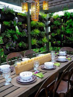 Garten Gestalten Ideen Steinwand Und Ausgefallene Sitzmöbel ... Essbereich Gestalten Steinwand