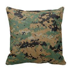 Marine Corps-Digital Woodland Pillow Camo Blankets 1abd1c3f0a