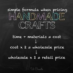 Handmade Craft Pricing Formula - How Much Should I Charge? u-createcrafts.com