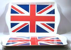 Plateau avec le drapeau Anglais