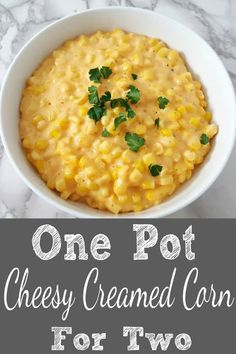 One Pot Cheesy Creamed Corn for Two (15 min) • Zona Cooks
