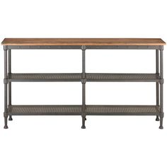 Home Decorators Collection Gentry Rectangular Distressed Oak Console Table-9492400810 - The Home Depot