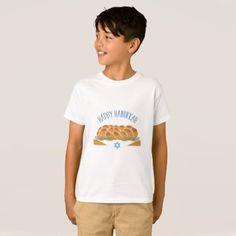 #Happy Hanukkah T-Shirt - #cool #kids #shirts #child #children #toddler #toddlers #kidsfashion