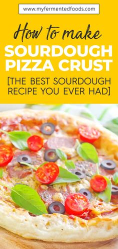 If you are looking for a quick way to prepare a pizza and do not have the crust, you can try this instant Sourdough Pizza Crust Recipe so that you can enjoy a homemade pizza using a flavorful Sourdough Starter. Here is the full recipe. . . . #MyFermentedFoods #FermentedFoods #SourdoughBread #Sourdough #SourdoughPizza #SourdoughPizzaCrust Healthy Dishes, Good Healthy Recipes, Whole Food Recipes, Easy Recipes, Healthy Food, Sourdough Pizza, Sourdough Recipes, Pizza Recipes, Lunch Recipes