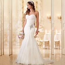 2017 New Arrival Vestido De Noiva Robe De Mariage Bridal Dress Mermaid Trumpet Chiffon Wedding Dresses Plus Size YN 9532(China (Mainland))