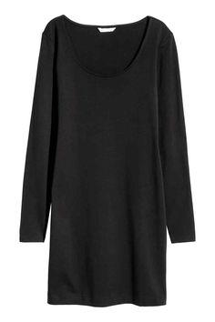 Krátké žerzejové šaty - Černá - ŽENY | H&M CZ 1
