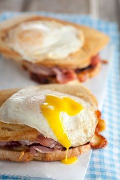 Check out what I found on the Paula Deen Network! Croque Madame http://www.pauladeen.com/recipes/recipe_view/croque_madame