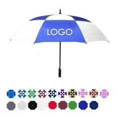 "Wind-Vented Automatic Golf Umbrella (60"" Arc) Single pc $16.50 + set ups."