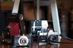 vintage cameras at Inheritance