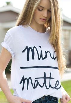 Susi&Rita Summer T-Shirt For Women Mind Matter Letter Print Funny T-shirts Casual O-Neck Short Sleeve Cotton Tee Shirt Camiseta Quotes For Shirts, Fresh Tops, Bleach Shirts, Mind Over Matter, Summer Crop Tops, Clothes Pictures, Material Girls, Girls Be Like, Diy Fashion