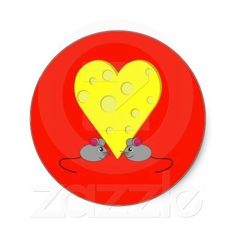 Cheesy Romance Round Stickers