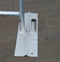 Double Metal Foot For Temporary Fence Panel (Female)    600mm Long    Readily available for a quick delivery.