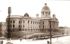 Belgrade in 1929 - National Assembly in construction - Serbia