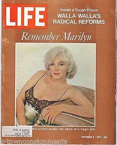 REMEMBER MARILYN MONROE PIN-UP MOVIE ACTRESS VINTAGE LIFE NEWS MAGAZINE 1972