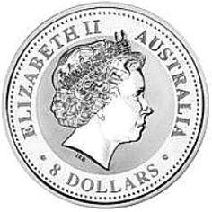 Series One - 5oz. Australian Silver Lunar Bullion Coin - Obverse Side