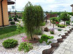 None Side Garden, Garden Paths, Garden Art, Outdoor Garden Decor, Outdoor Pool, Plant Design, Garden Design, Creative Landscape, Home Landscaping