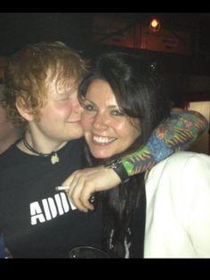 Anne Cox with Ed Sheeran!!!!!! Nice face Ed!!!! :)