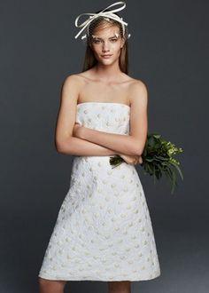 Max Mara Grano vestito corto da sposa
