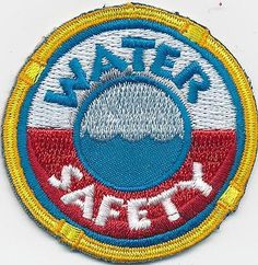 Girl-Boy-Cub-WATER-SAFETY-Boat-Fun-Patches-Crests-Badges-SCOUT-GUIDE-Class-Swim
