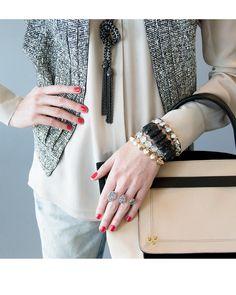 Chloe Link Bracelet in Black Drusy - Kendra Scott Jewelry. Coming October 15!
