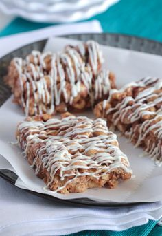 Peanutty Pumpkin Spice Toffee Bars - Picky Palate