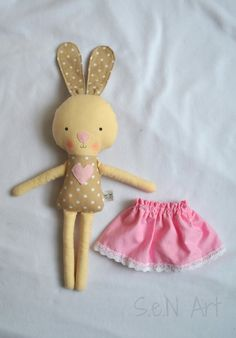 Handmade Fabric Bunny Ballerina Softie with Skirt Bunny Plush Doll Sewing Patterns, Sewing Dolls, Bear Patterns, Fabric Toys, Fabric Crafts, Bunny Toys, Bunny Plush, Felt Toys, Sock Toys