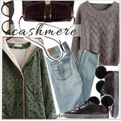 Cozy Cashmere Sweaters by teoecar on Polyvore featuring moda, American Eagle Outfitters, Gucci, E L L E R Y and cashmere