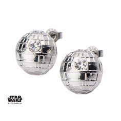 Star Wars Stainless Steel Death Star Stud Earrings image