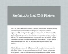 Sitefinity: An Ideal CMS Platform by Nova Software