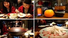Fun winter dining experience in Japan :)