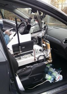 German Police Stopped Man With Mobile Office In His Car, But Found Law Wasn't On Their Side - German police recently stopped a man for overspeeding and realized that his Ford station wagon hosted an entire mobile office with a whole host of accessories. [Click on Image Or Source on Top to See Full News]