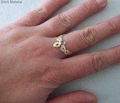 14k Gold Celtic Engagement Ring solid gold ring gold