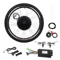 "Esright 26"" Bike Rear Wheel Electric Motor Bicycle Conversion Kit (48V 1000W )"
