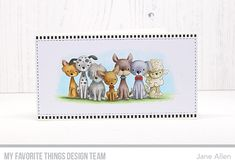 Stamps: Puppy Kisses Die-namics: A2 Stitched Rectangle STAX Set 1  Jane Allen   #mftstamps