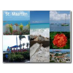 Sold to Eric, my very popular St. Maarten collage postcard. :-)