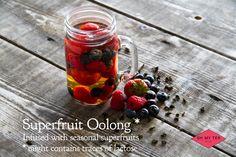 Superfruit Oolong. Verse bereide Oolong tea getrokken met seizoensfruit.