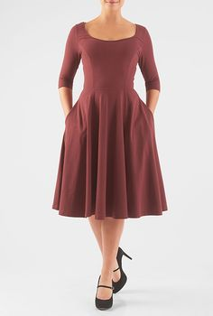 I like that its cotton and stretchy and the skirt is full. Not a huge fan of the color. I prefer greens maroons blues and plums