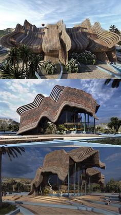 Hotel Design Architecture, Architecture Sketchbook, Architecture Collage, Organic Architecture, Architecture Portfolio, Amazing Architecture, Landscape Architecture, World Of Wakanda, Resort Plan